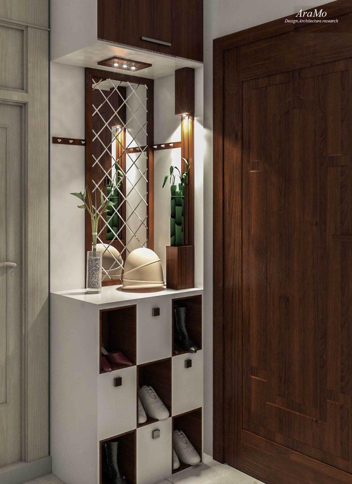 طراحی و دکوراسیون ورودی آپارتمان