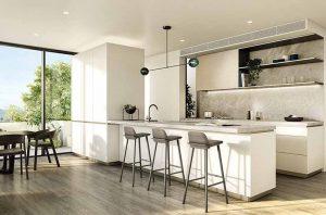 نمونه ای از طراحی داخلی آشپزخانه